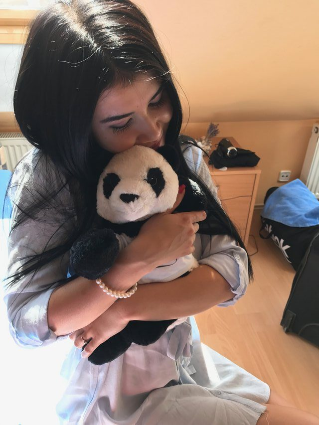 Full of Love.. Dee with Leon´s Panda