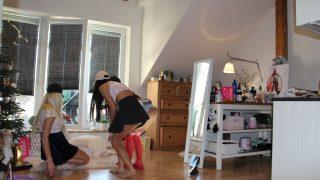 Leon`s Angels, Short Denim Skirts + Transparent Leggings Day Photo Gallery