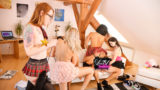 (115 FREE PHOTOS HERE in this post!!) 5 Girls 1 Lucky Boy Schoolgirl Uniforms School Skirts Hardcore Party CFNM Day PRIVATE SET!