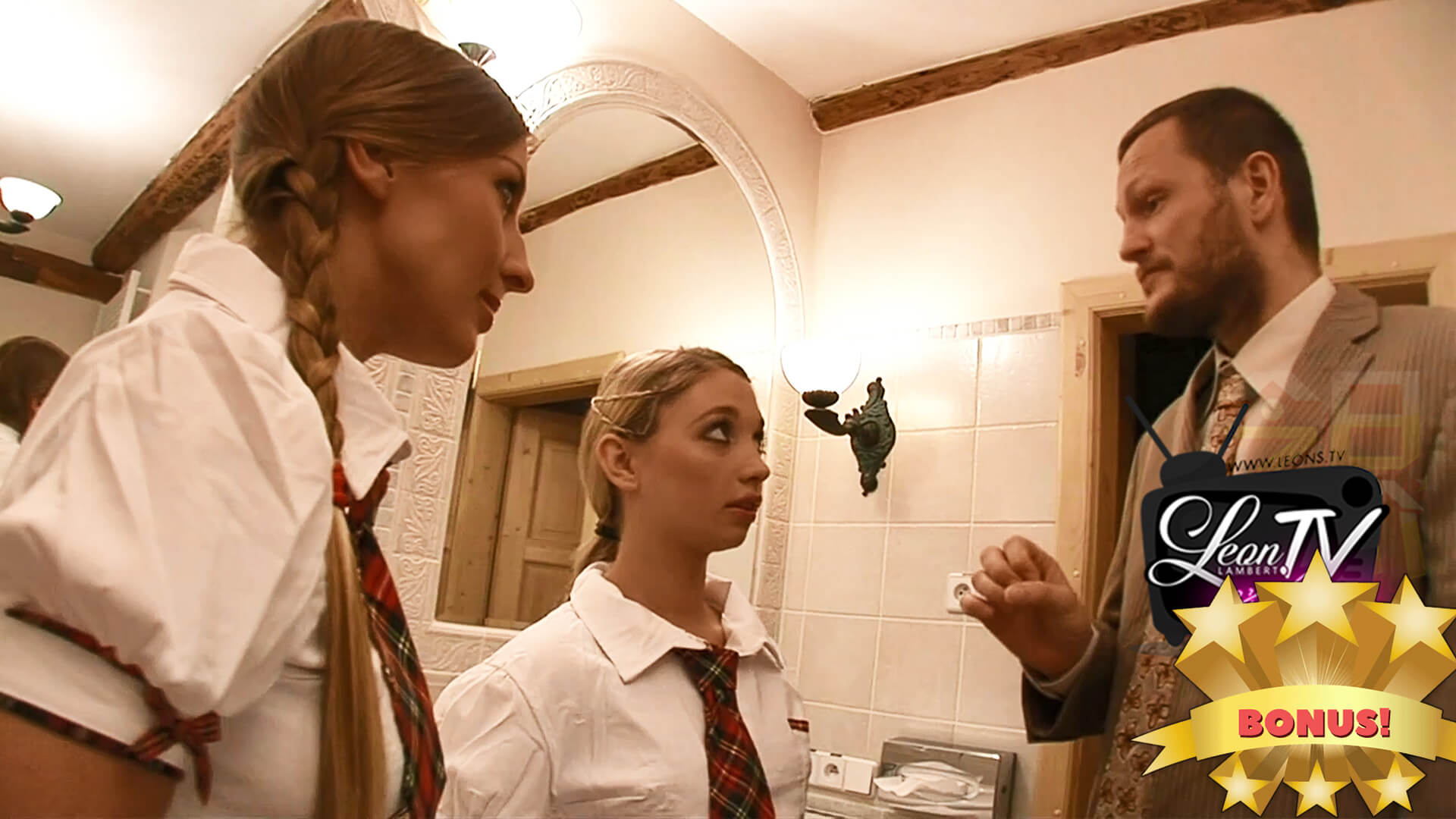Two Young Hot Private Schoolgirls and a Huge Dick Principle.. What may go wrong?
