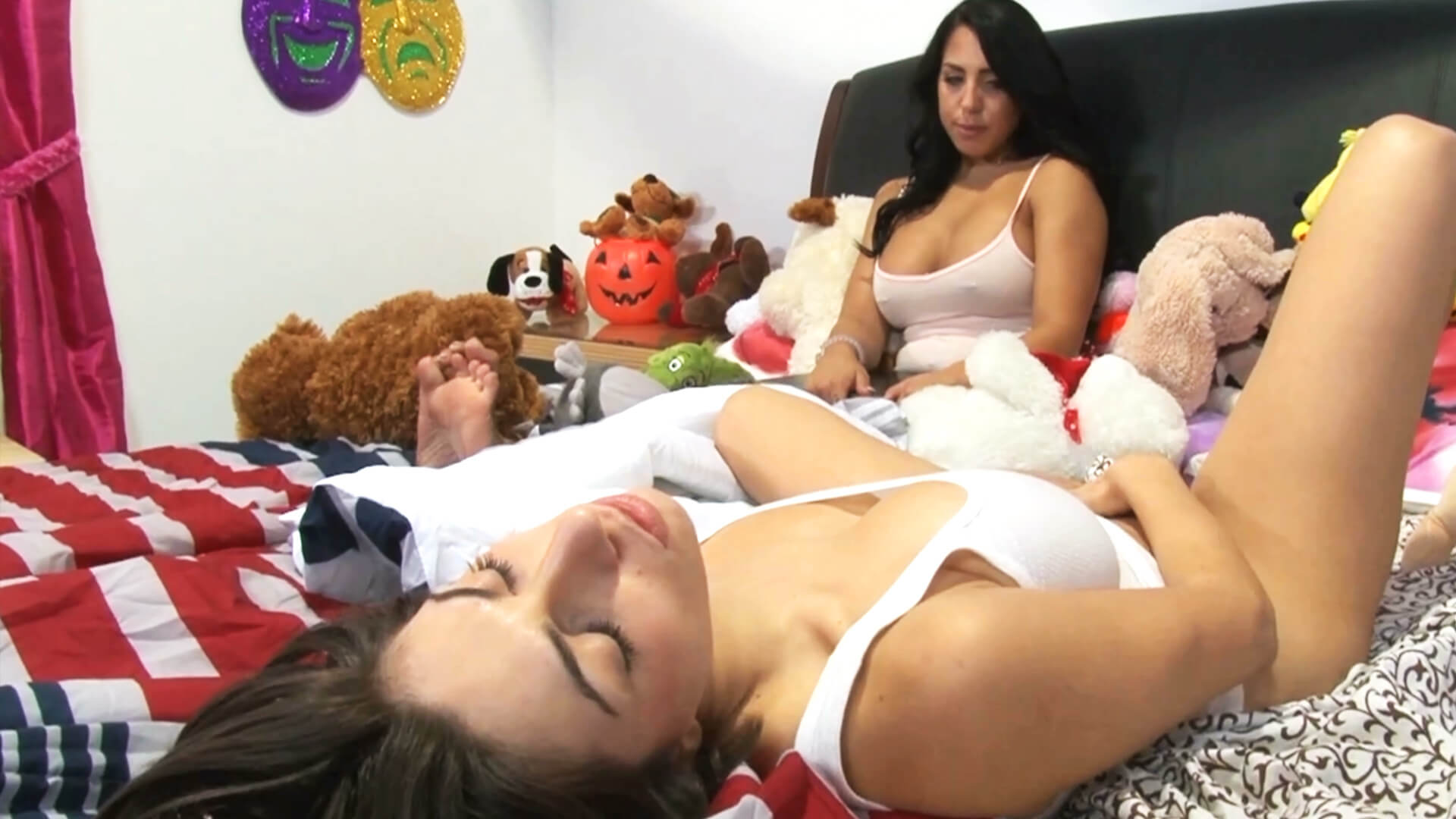 What to do when your Step-Sister starts masturbating right near you on the same bed
